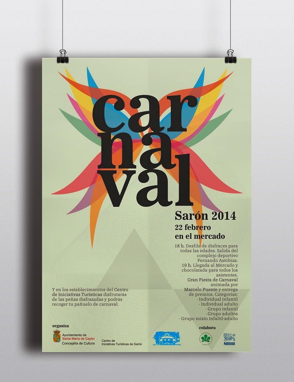 poster-cartel-carnaval-saron-cantabria-by-que-tono-de-verde-color-arcoiris-febrero