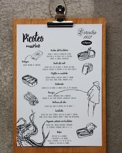 carta-cantabrico-el-estrecho-madera-tabla-pinza-anchoas-bonito-picoteo-marinero-queso-arlequin-conservas